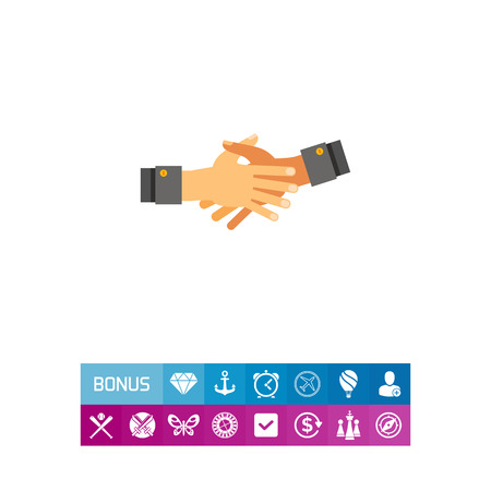 friend nobody: Together Hands Flat Icon Illustration