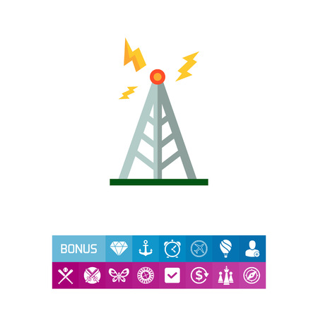 Transmitting tower icon Illustration
