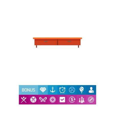 brown: TV stand Illustration