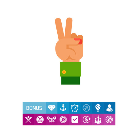 Two Fingers Up Icon