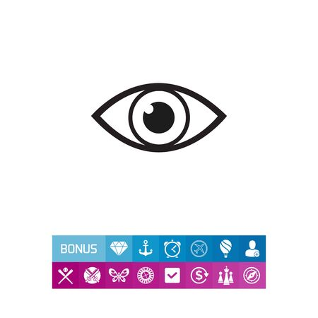 Vector icon of video monitoring represented by open human eye