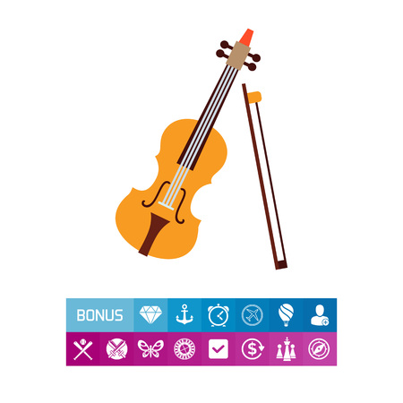 brown: Violin and bow icon