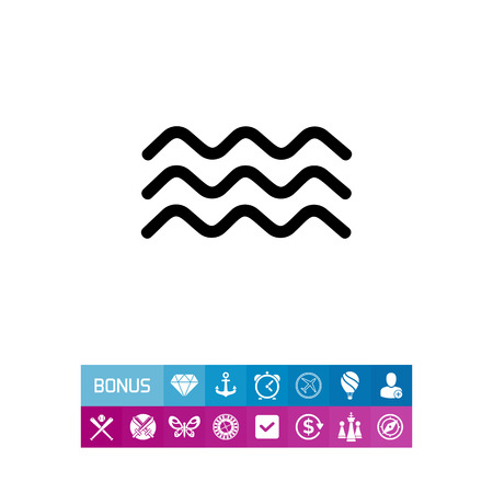 oceanic: Waves simple icon Illustration