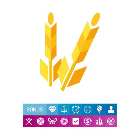grain: Wheat flat icon