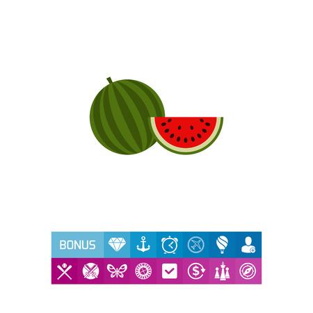 cutting: Watermelon and watermelon slice Illustration