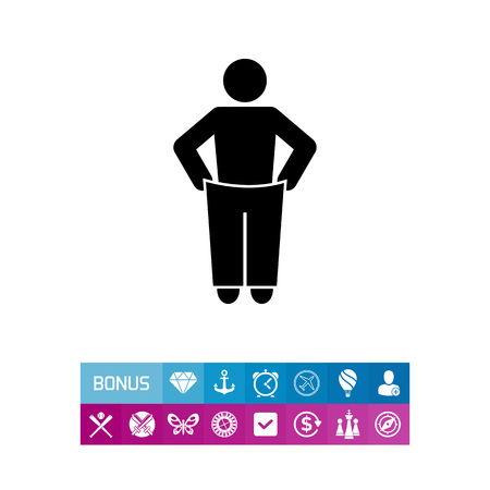 oversized: Weight Loss Concept Icon Illustration