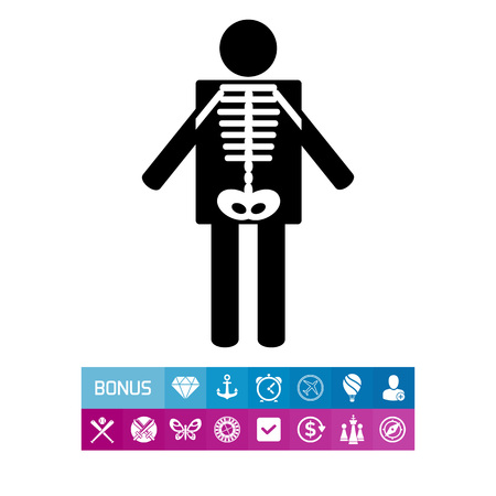 X-ray Concept and Human Radiography Icon