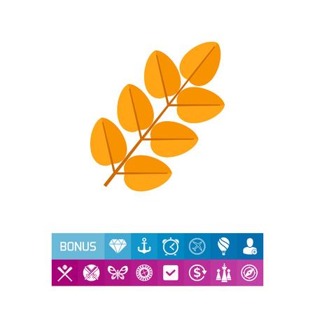 Yellow leaf icon Illustration