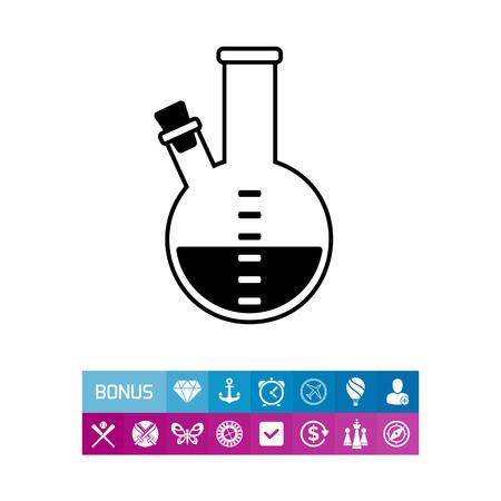reagent: Substance simple icon Illustration