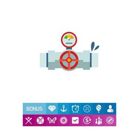 Valve with manometer