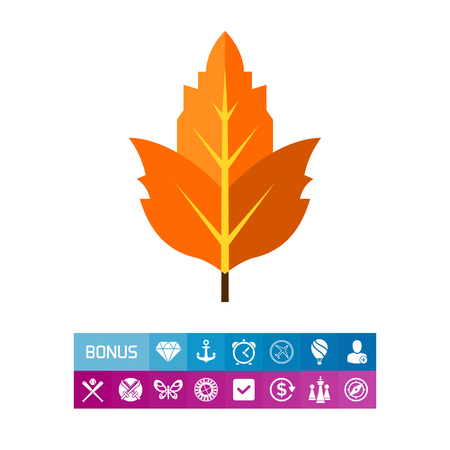 Viburnum Leaf Icon Illustration