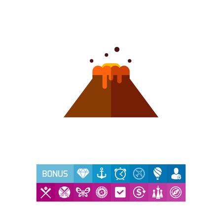 Volcano flat icon Illustration