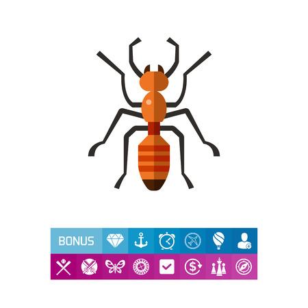Ant flat icon