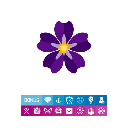 genocide: Icon of blooming forget-me-not. Armenian genocide, nature, flora. Crime against humanity concept. Can be used for topics like national tragedy, flowers or beauty Illustration