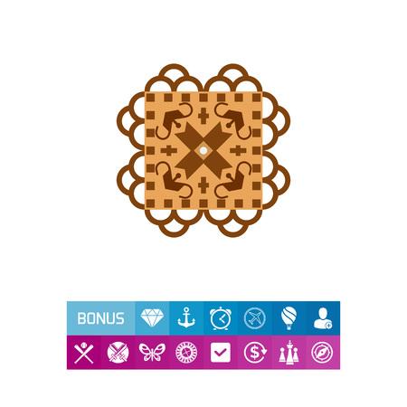 Beautiful Lefkaritika lace icon Illustration