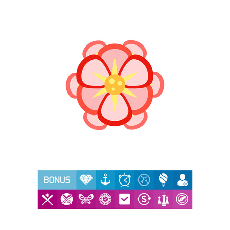 Beautiful pink begonia icon