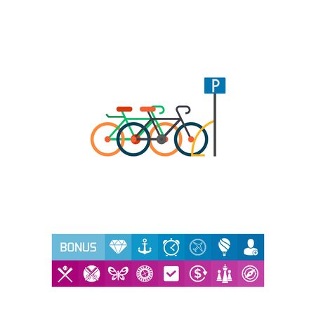 Bicycle parking icon Stock Photo