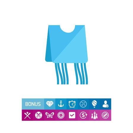 sephardic: Blue tzitzit garment icon Illustration