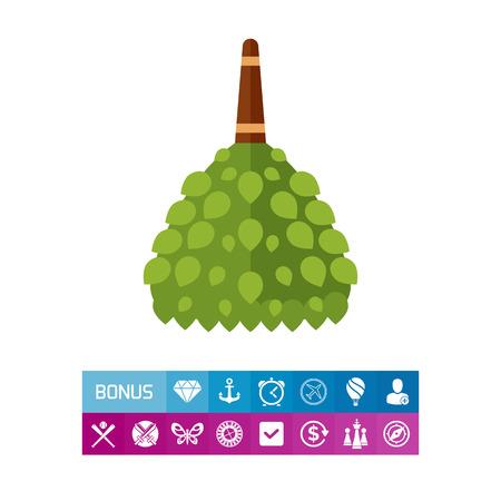 Icon of birch broom for sauna. Spa, treatment, healthcare. Bath concept. Can be used for topics like Finnish traditions, sauna, alternative medicine