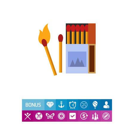 matchbox: Burning matches icon