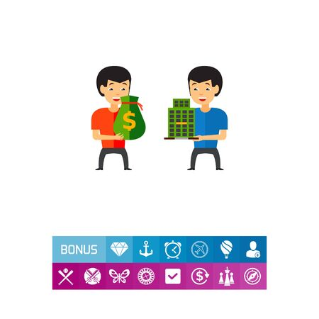 Buying Company Concept Icon
