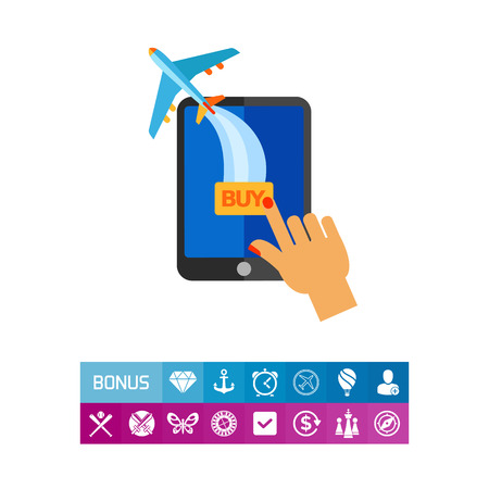 Buying Ticket Online Icon