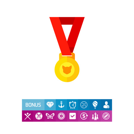 Cat Medal Vector Icon
