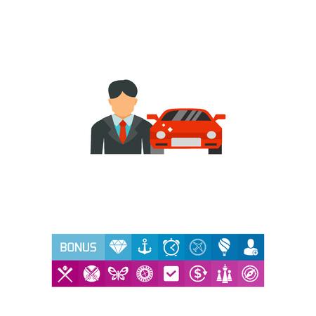 Car salesman icon Illustration