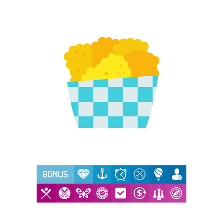 Chicken nuggets icon