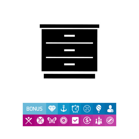 Chest of Drawers Icon Illustration