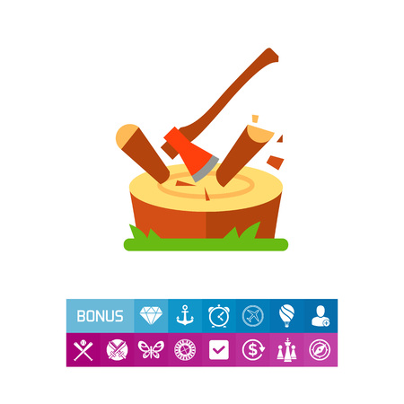 Chopping log icon