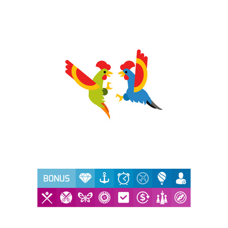 Cocks fighting icon