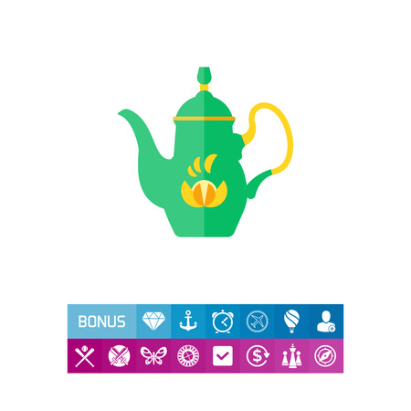 Pot de café de l'icône de service tchèque Banque d'images - 83044912