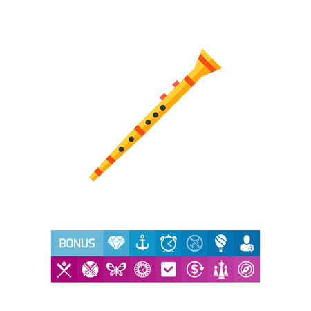 woodwind: Clarinet musical instrument icon