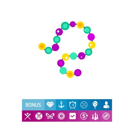 Colorful Mardi Gras beads icon Stock Vector - 83044945