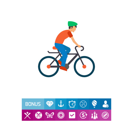 Cycling man icon