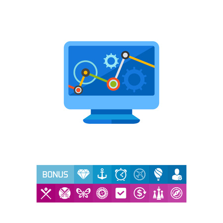 security monitor: Data Analysis Vector Icon Illustration