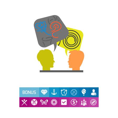 Decoding and Understanding Problem Icon Illustration