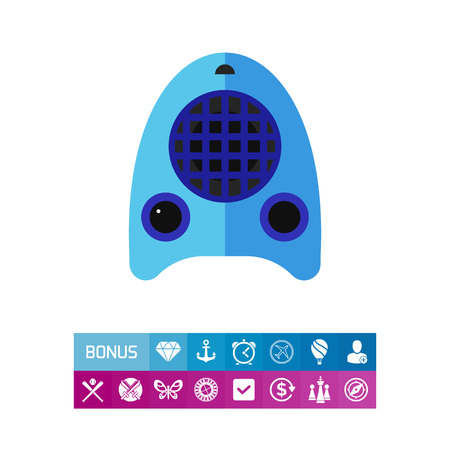 Electric fan heater vector icon Illustration