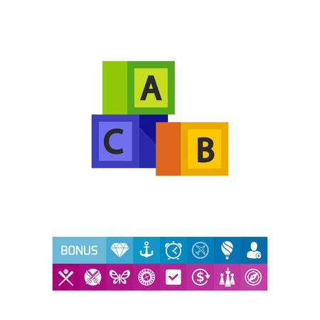 playtime: English alphabet icon Illustration