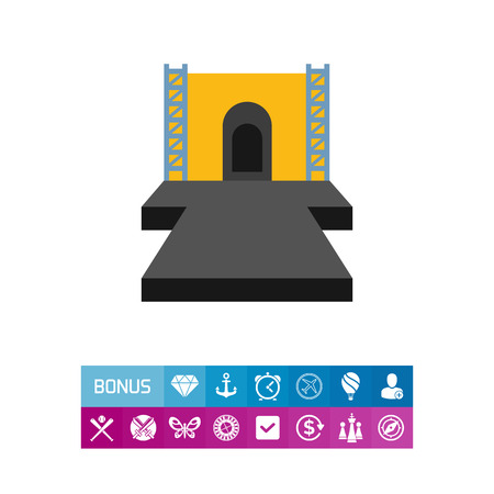 Fashion show runway vector icon