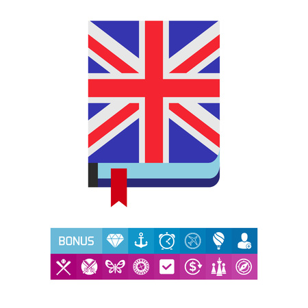talking dictionary: English book icon