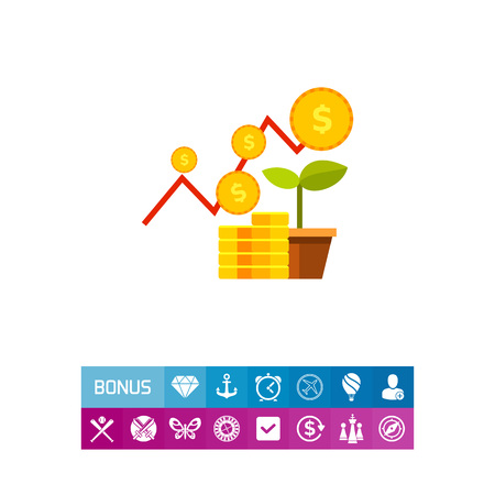 Financial Business Plan Concept Icon Illustration
