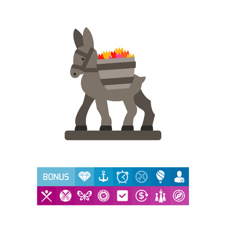 Figurine donkey icon 版權商用圖片 - 83094884