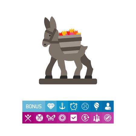 Figurine donkey icon Illustration