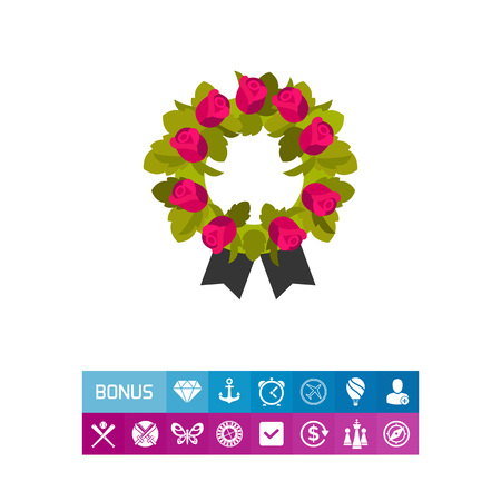 Funeral wreath icon Illustration