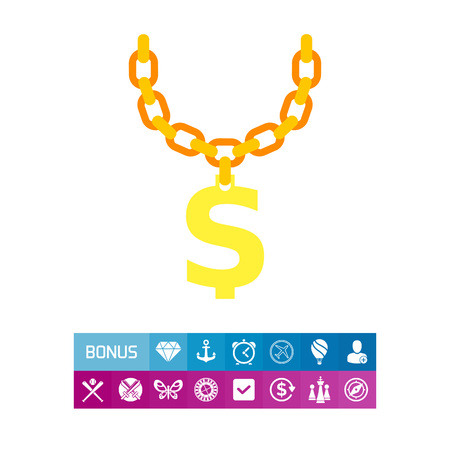 rap: Golden Chain with Dollar Symbol Icon