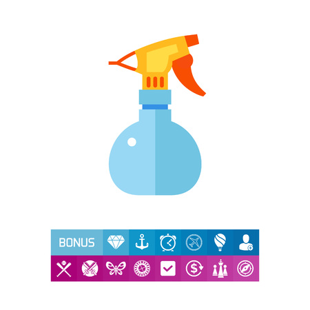 Hairdresser sprayer vector icon
