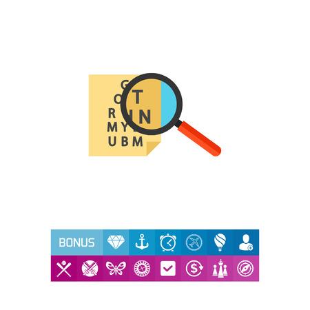 Check table icon Illustration