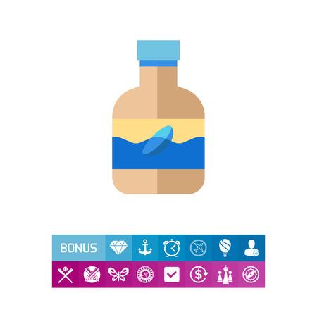 Lens liquid icon Illustration